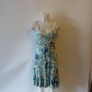 WOMENS FREE PEOPLE MULTICOLOR FLORAL TANK DRESS S*